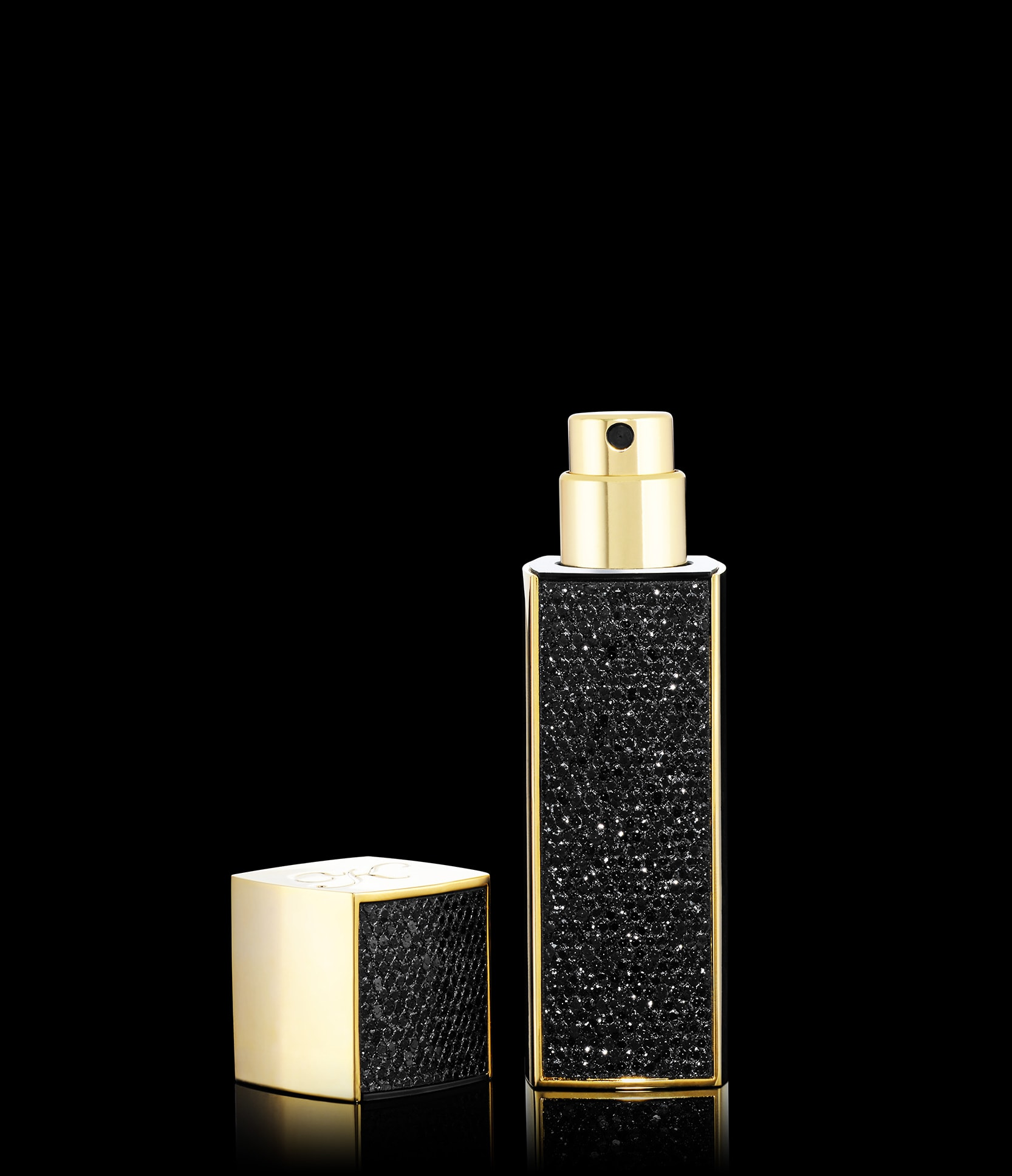 Black glitter travel spray only